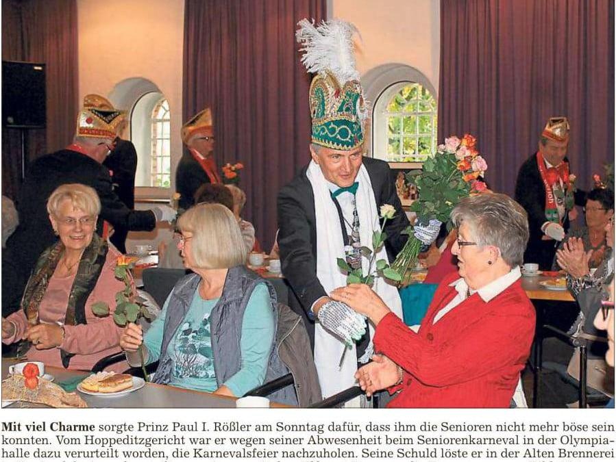 Prinz Paul I. feiert mit Senioren