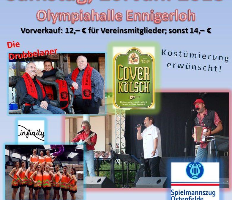 "Karnevalssitzung in der ""Drubbel-Arena"""