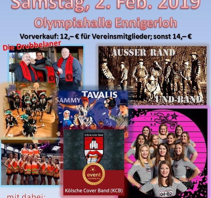 Galasitzung am 2. Februar – noch Karten erhältlich