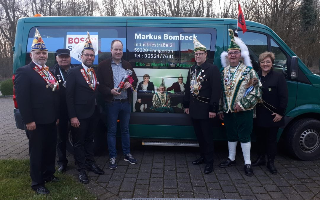 Dreigestirn bedankt sich bei Markus Bombeck