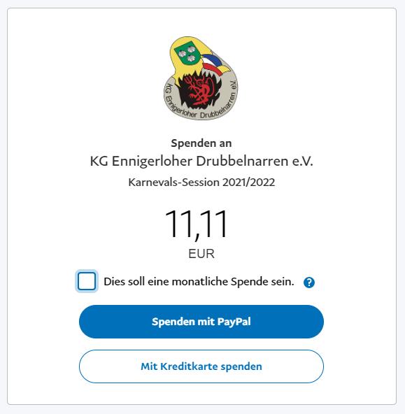 Spenden jetzt auch mit PayPal möglich